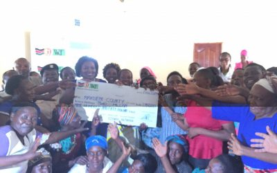 Issuing of WEF cheques to 100 women in Makueni